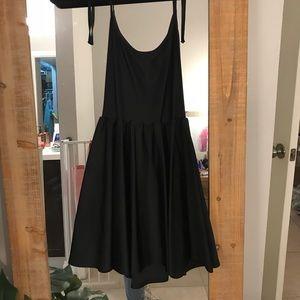 Black American Apparel stretchy skater dress
